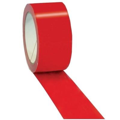 Foto van PVC tape rood - 50 mm x 66 mtr.