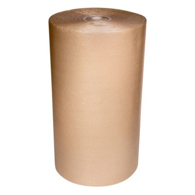 Schuimfolie 2 mm dik, gelamineerd met 75gr. kraft 100 cm x 125 mtr.