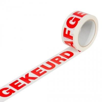 Afbeelding van PVC tape wit 50mm x 66mtr. rode opdruk 'afgekeurd'