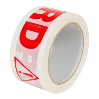 Foto van PVC Tape 'AFGEKEURD' - 50 mm x 66 mtr. wit met rode opdruk