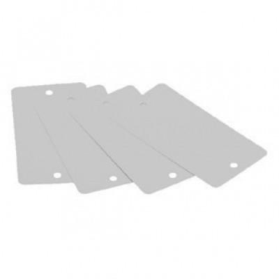 Foto van Metalen label wit - 55 x 100 mm met gaatjes