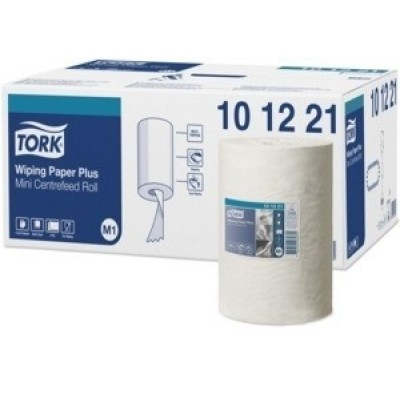 Foto van Tork Advanced Wiper 420 Mini Centerfeed Roll 220 mm x 75 m