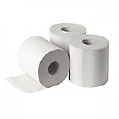 Industriepapier wit gerecycl. 2-laags 21 cm x 160 mtr.
