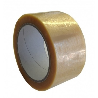 Foto van PVC tape bruin 25mm x 66mtr.