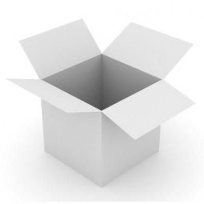Foto van Amerikaanse vouwdoos 200x150x150 mm - enkelgolf wit