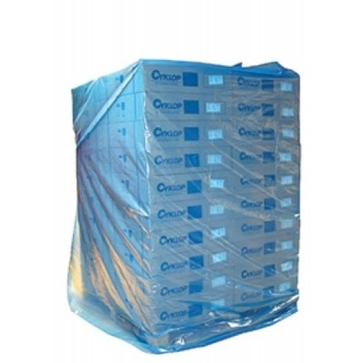 LDPE pallethoes kleur blauw 130 x (2 x 50) x 210 cm