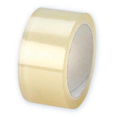 PVC tape transparant 48mm x 66mtr. per rol