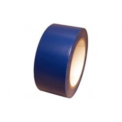 Foto van PVC tape blauw 25mm x 66mtr.