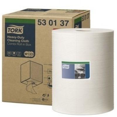 Foto van Tork Premium Cloth 530 320 mm x 106 mtr wit