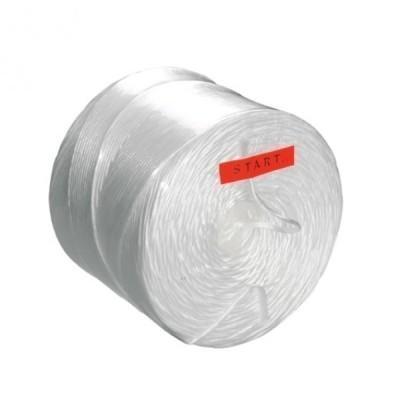 Foto van Spoel - 2,0 kg PP touw wit 3 draads / 800 mtr