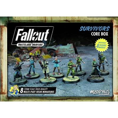 Fallout Wasteland Warfare Survivors Core Box BORDSPELLEN