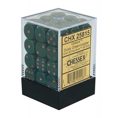 Dice Set Opa Dust Green/Copper 12mm (36Pcs) DICES