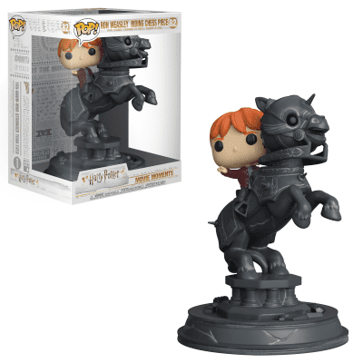 Pop! Movie Moments: Harry Potter - Ron Weasley Riding Chess Piece 20 cm FUNKO