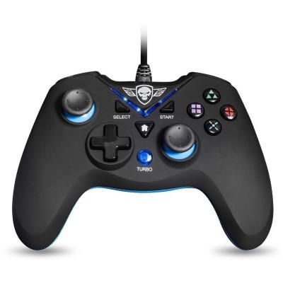 Foto van Spirit Of Gamer Wired Controller XGP (Pc compatible) Zwart/Blauw PS3