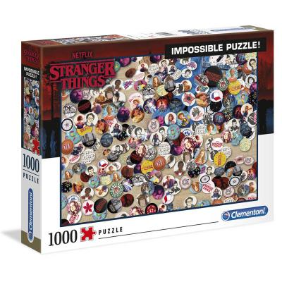Foto van Stranger Things Badge Impossible Puzzle 1000pc PUZZEL