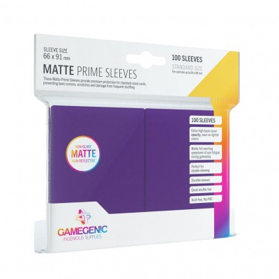 TCG Matte Prime Sleeves 66 x 91 mm - Purple (Standard Size/100 Stuks) SLEEVES