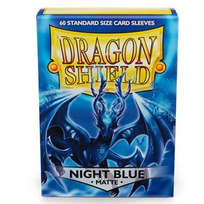 Foto van TCG Sleeves Matte Dragon Shield - Night Blue (Standard Size) SLEEVES