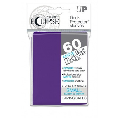 TCG Sleeves Pro-Matte Eclipse - Royal Purple (60 Sleeves) (Small Size) SLEEVES