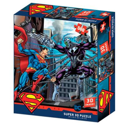 Foto van DC Comics Superman vs Braniac Prime 3D puzzle 300pcs PUZZEL