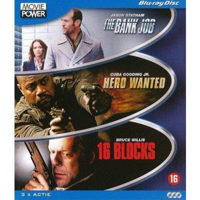 Foto van The Bank job/Hero Wanted/16 Blocks BLU-RAY MOVIE