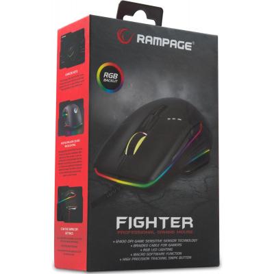 Foto van Rampage Fighter SMX-R19 Gaming Mouse (Black) PC