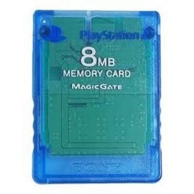 Foto van Memory Card 8Mb Blue (Blauw) PS2
