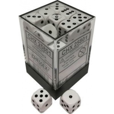 Dice Set Opa Ivory/Black 12mm (36Pcs) DICES