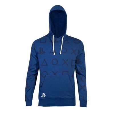 PlayStation - AOP Icons Men's Hoodie - L MERCHANDISE