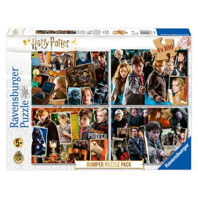 Harry Potter Puzzle 4 x 100pc PUZZEL