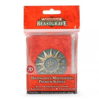 Warhammer Underworlds: Beastgrave - Hrothgorn's Mantrappers Premium Sleeves WARHAMMER UNDERWORLDS