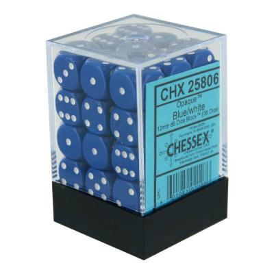 Dice Set Opa Blue/White 12mm (36Pcs) DICES