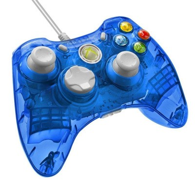 Rock Candy Wired Controller (Blauw) XBOX 360