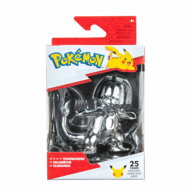 Foto van Pokemon - 25th Celebration 3 Inch Silver Charmander Figure MERCHANDISE