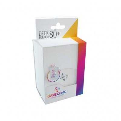 TCG Deckbox Deck Holder 80+ - White DECKBOX