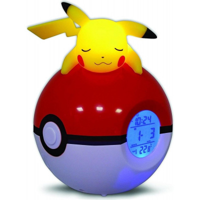 Teknofun Pokemon: Wekkerradio Pokeball - Pikachu MERCHANDISE