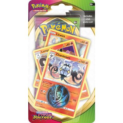 TCG Pokémon Sword & Shield Vivid Voltage Premium Checklane Booster - Chandelure POKEMON