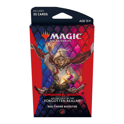 TCG Magic The Gathering D&D Forgotten Realms Red Theme Booster MAGIC THE GATHERING