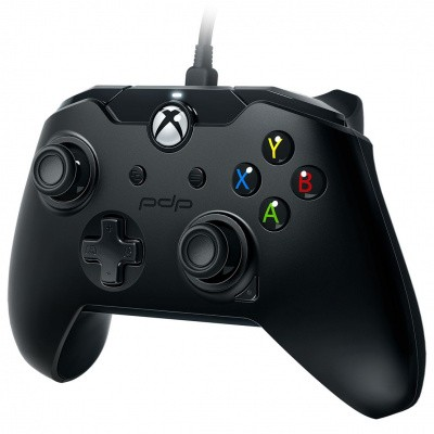 Foto van Pdp Controller Wired Raven Black XBOX ONE