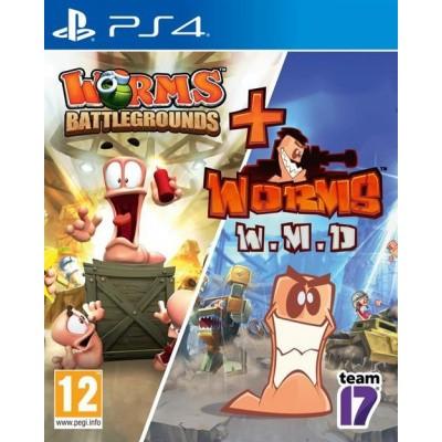 Foto van Worms Battlegrounds & Worms W.M.D Double Pack PS4