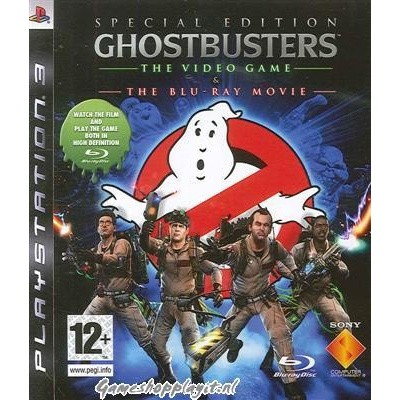 Ghostbusters The Video Game + Blu Ray Movie PS3