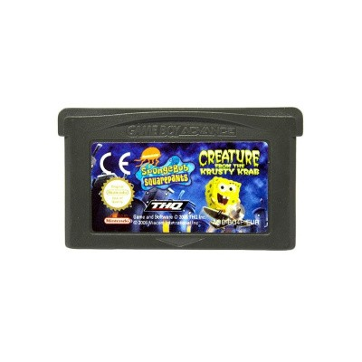 Foto van Spongebob Creature From The Krusty Krab GBA LOSSE GAME