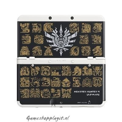 Foto van New 3Ds Cover Plate Monster Hunter 4(Black) 3DS