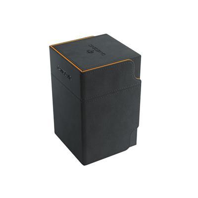 Foto van TCG Deckbox Watchtower 100+ XL - Black/Orange DECKBOX