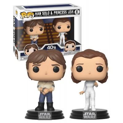Foto van Pop! Star Wars: Empire Strikes Back - Han Solo & Princess Leia FUNKO