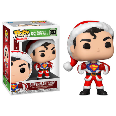 Pop! Heroes: DC Holiday - Superman with Sweater FUNKO