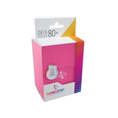TCG Deckbox Deck Holder 80+ - Pink DECKBOX