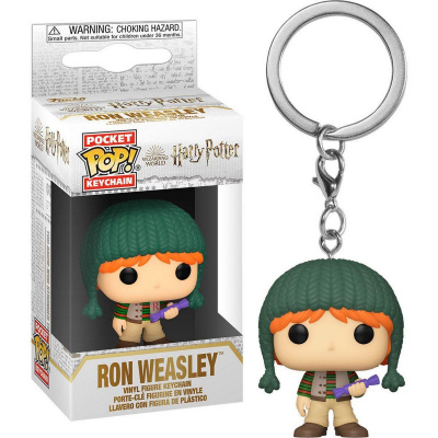 Foto van Pocket Pop! Keychain: Harry Potter - Holiday Ron FUNKO