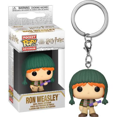 Pocket Pop! Keychain: Harry Potter - Holiday Ron FUNKO
