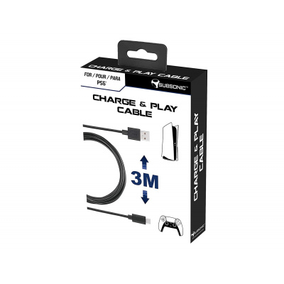 Subsonic Charge & Play 3M Cable PS5