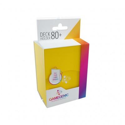 TCG Deckbox Deck Holder 80+ - Yellow DECKBOX